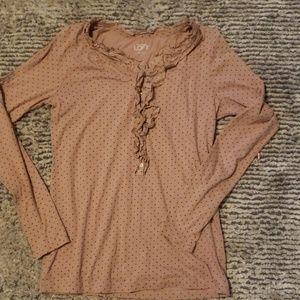 Ann Taylor LOFT ruffle shirt